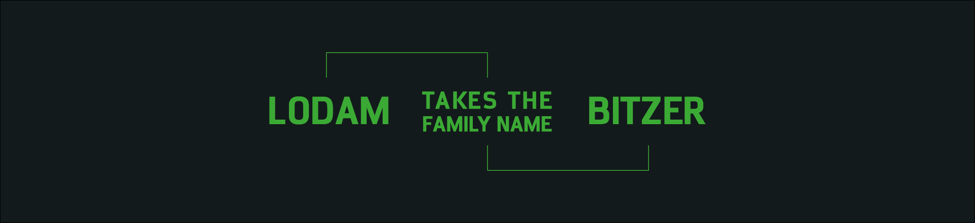 Lodam takes the family name